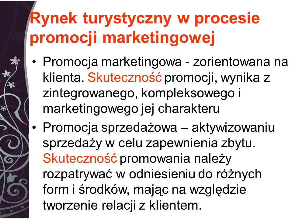 Rynek turystyczny w procesie promocji marketingowej Promocja marketingowa - zorientowana na klienta.