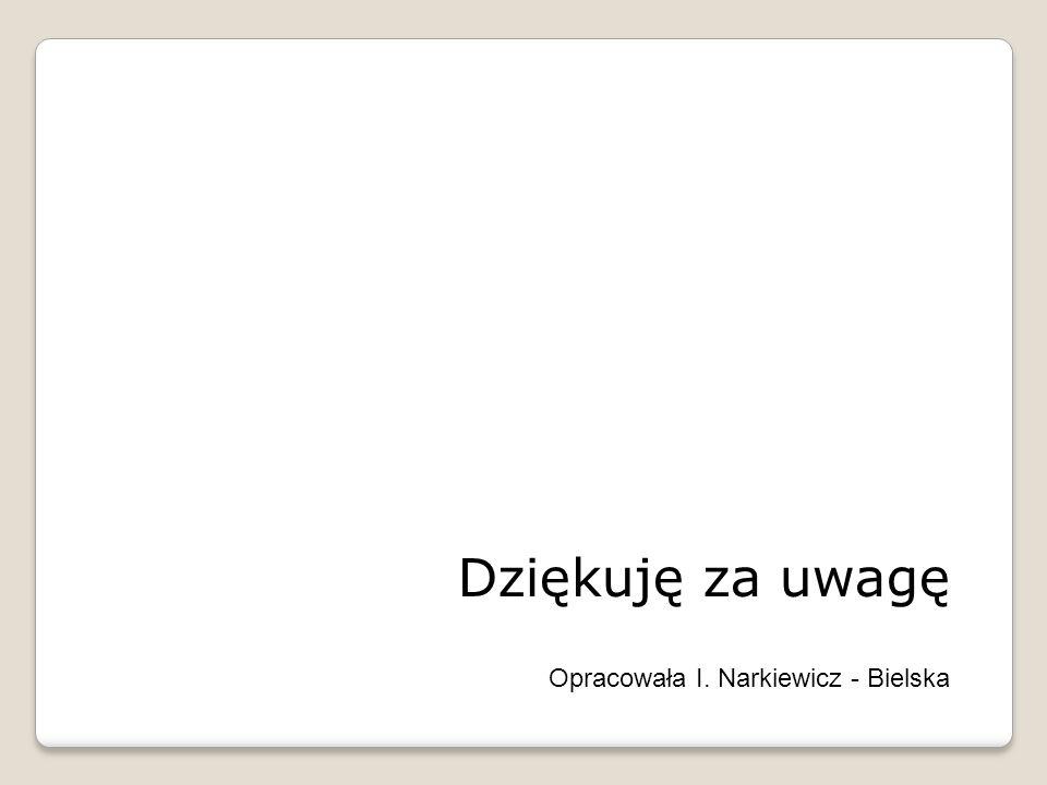 Dziękuję za uwagę Opracowała I. Narkiewicz - Bielska