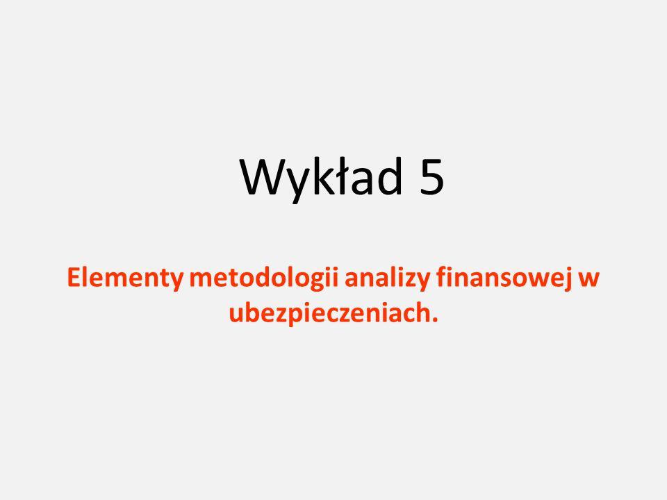 Wykład 5 Elementy metodologii analizy finansowej w ubezpieczeniach.