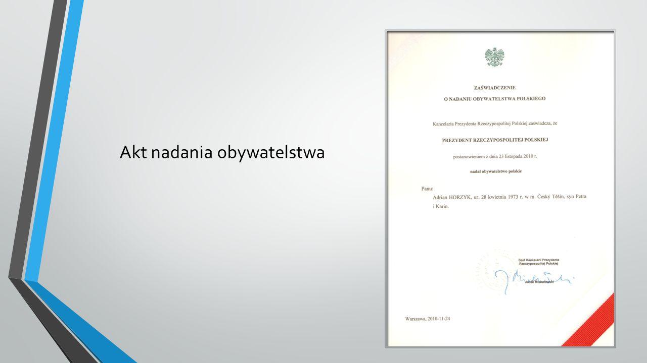 Akt nadania obywatelstwa