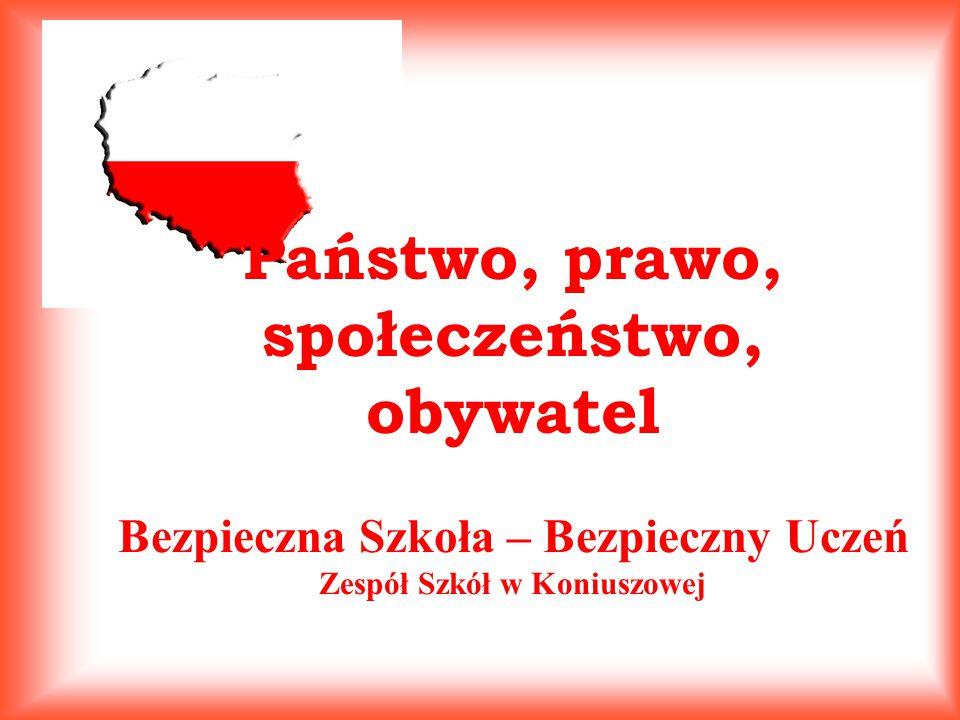 Państwo, prawo, społeczeństwo, obywatel Bezpieczna Szkoła – Bezpieczny Uczeń Zespół Szkół w Koniuszowej