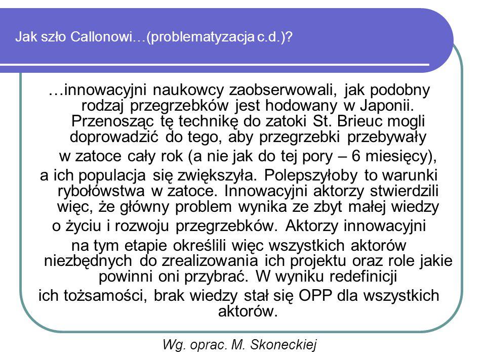Jak szło Callonowi…(problematyzacja c.d.).