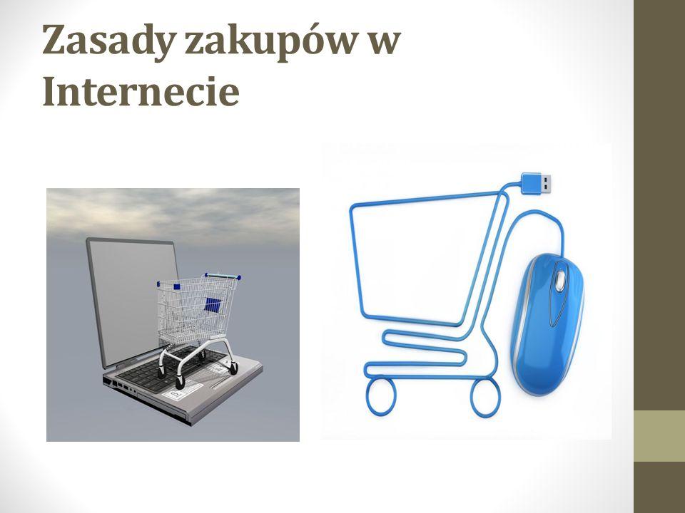 Zasady zakupów w Internecie