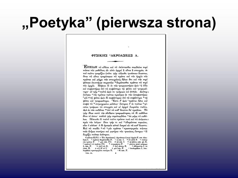"""""""Poetyka"""" (pierwsza strona)"""