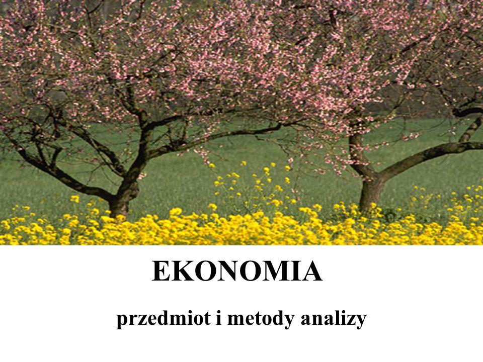 EKONOMIA przedmiot i metody analizy