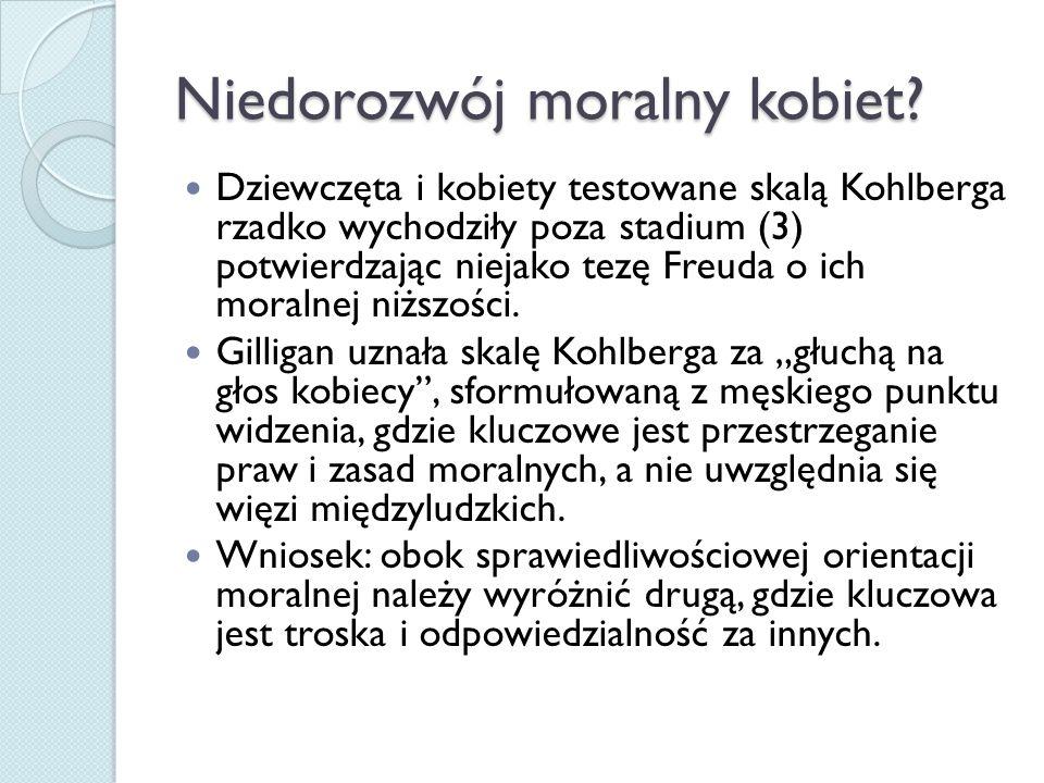 Niedorozwój moralny kobiet.