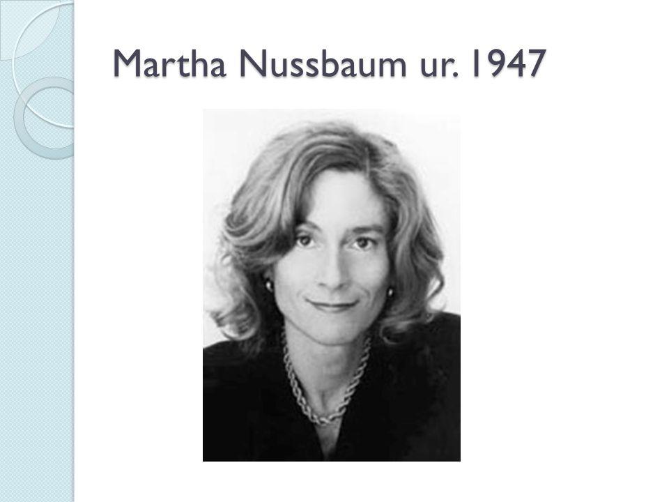 Martha Nussbaum ur. 1947