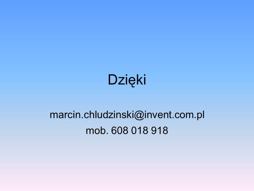 Dzięki marcin.chludzinski@invent.com.pl mob. 608 018 918
