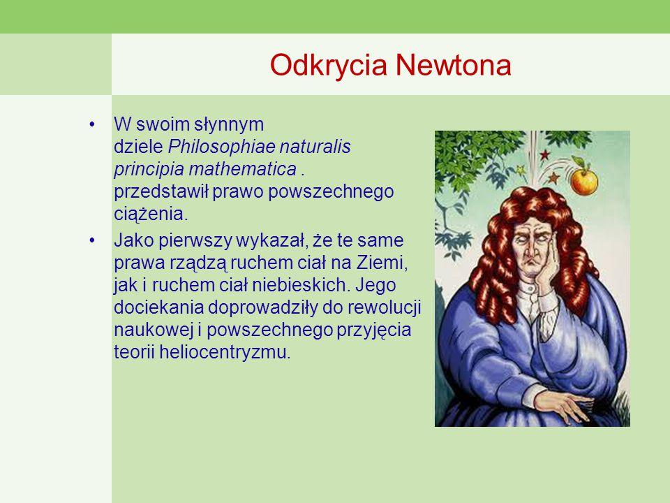 Odkrycia Newtona W swoim słynnym dziele Philosophiae naturalis principia mathematica.