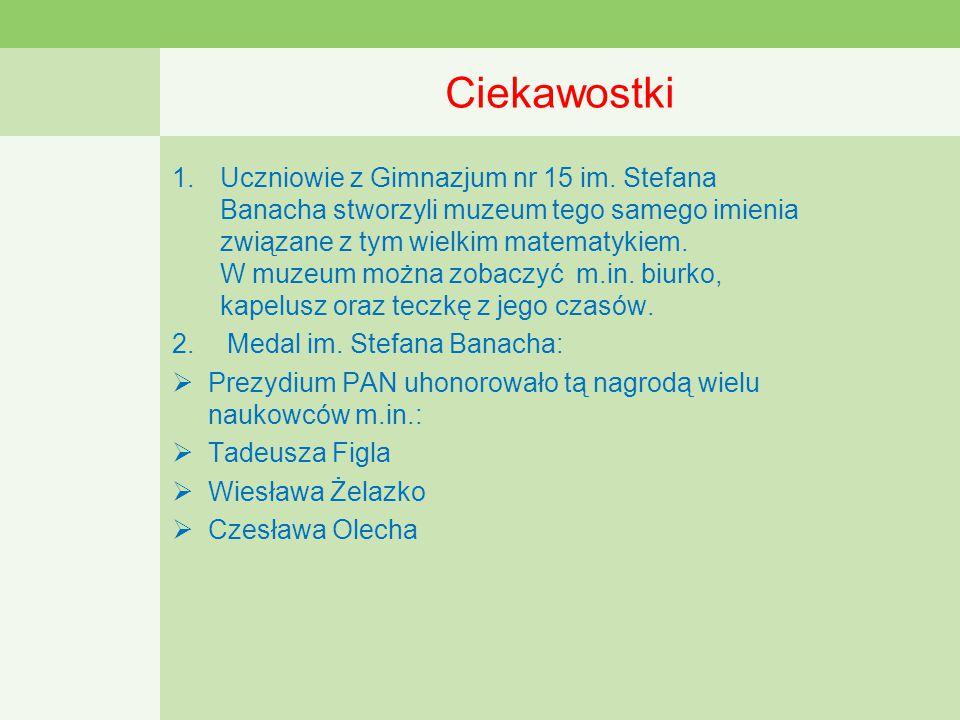 Ciekawostki 1.Uczniowie z Gimnazjum nr 15 im.