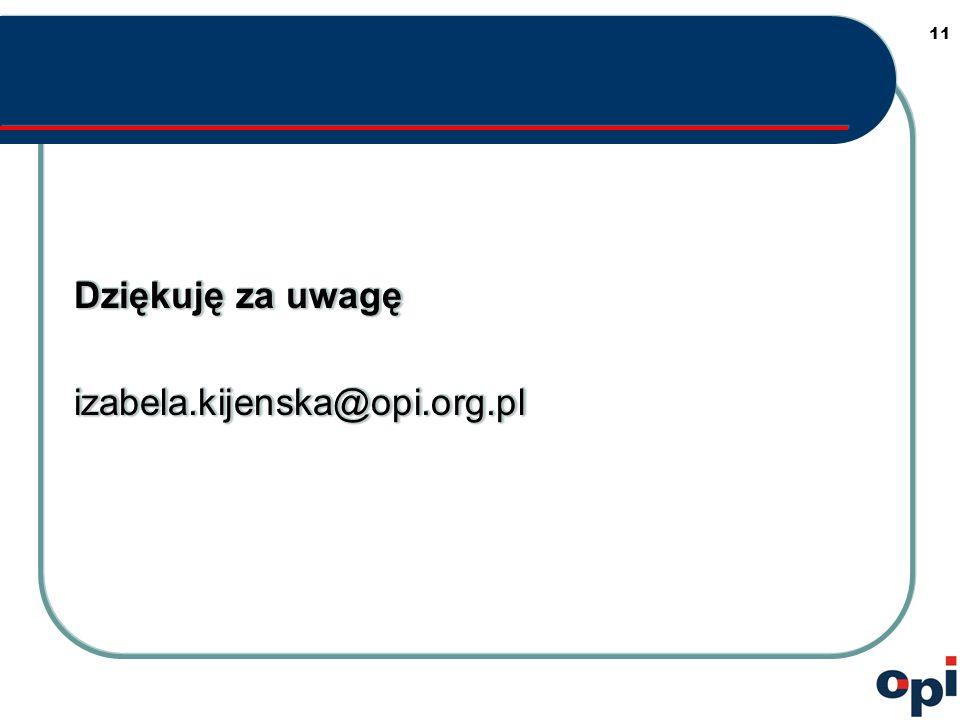 11 Dziękuję za uwagę izabela.kijenska@opi.org.pl izabela.kijenska@opi.org.pl