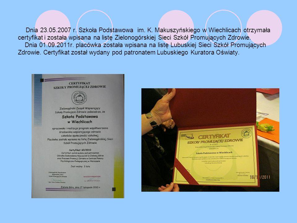 Dnia 23.05.2007 r. Szkoła Podstawowa im. K.