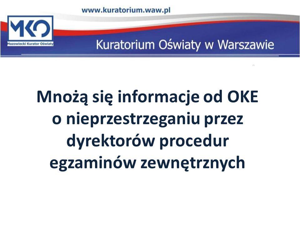 Mnożą się informacje od OKE o nieprzestrzeganiu przez dyrektorów procedur egzaminów zewnętrznych