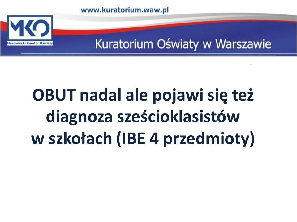 OBUT nadal ale pojawi się też diagnoza sześcioklasistów w szkołach (IBE 4 przedmioty)