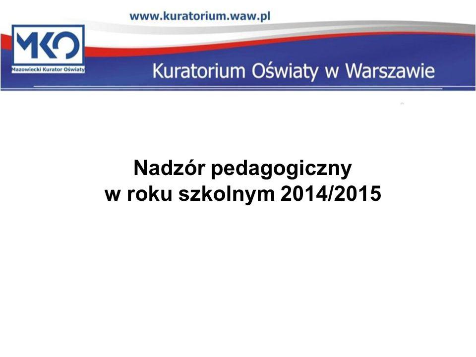Nadzór pedagogiczny w roku szkolnym 2014/2015