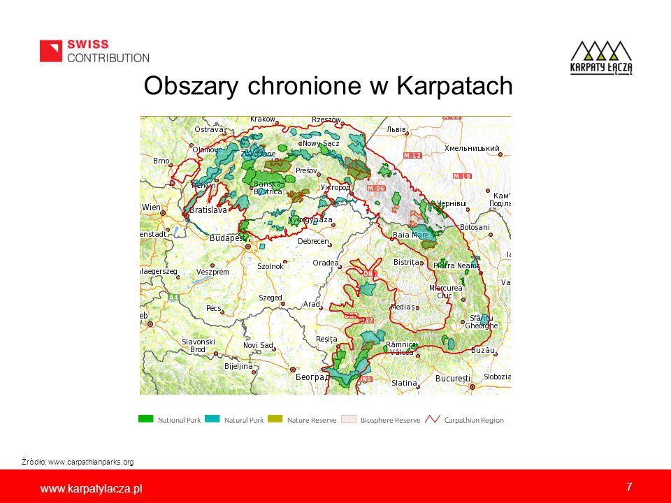 www.karpatylacza.pl 7 Źródło: www.carpathianparks.org Obszary chronione w Karpatach