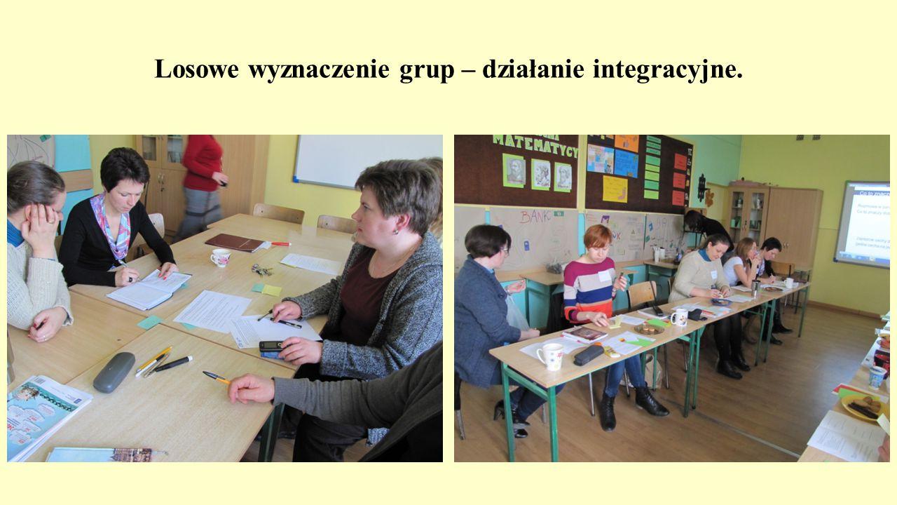 Losowe wyznaczenie grup – działanie integracyjne.