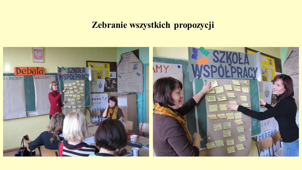 Zebranie wszystkich propozycji