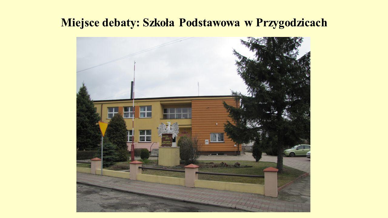 Miejsce debaty: Szkoła Podstawowa w Przygodzicach