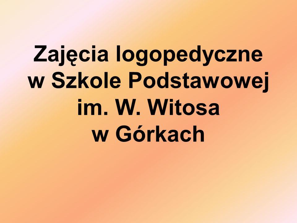 Zajęcia logopedyczne w Szkole Podstawowej im. W. Witosa w Górkach
