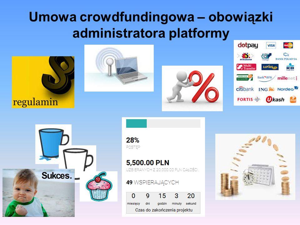 Umowa crowdfundingowa – obowiązki administratora platformy