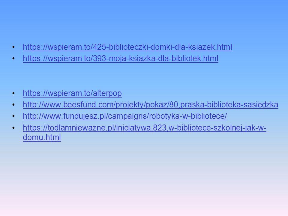 https://wspieram.to/425-biblioteczki-domki-dla-ksiazek.html https://wspieram.to/393-moja-ksiazka-dla-bibliotek.html https://wspieram.to/alterpop http: