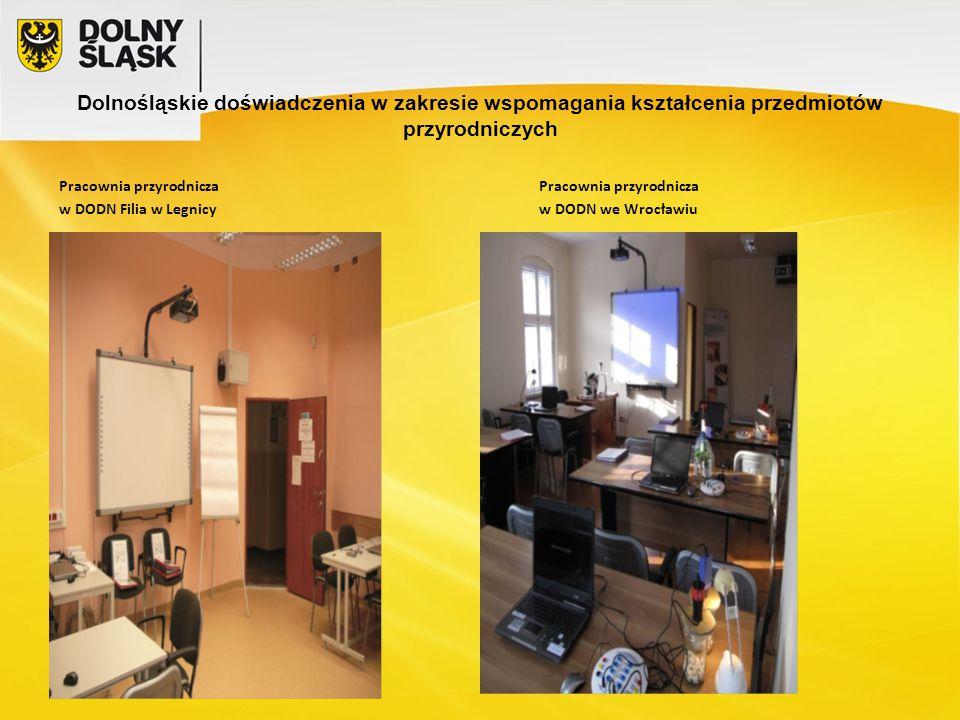 Pracownia przyrodnicza w DODN Filia w Legnicyw DODN we Wrocławiu
