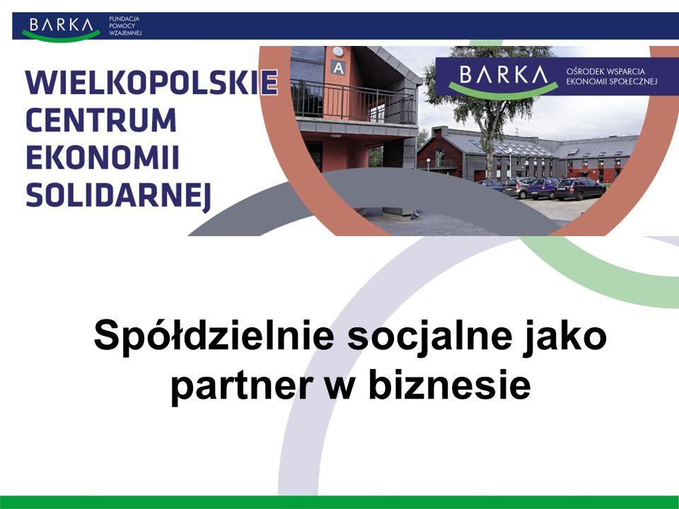 Spółdzielnie socjalne jako partner w biznesie