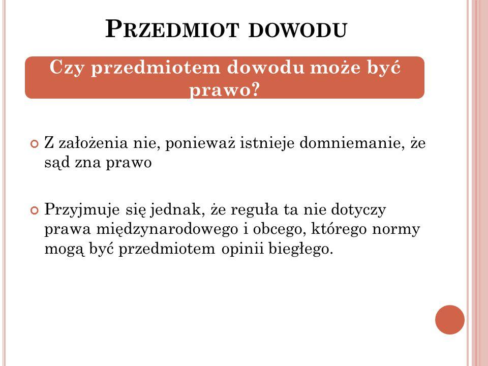 P O CO PRZEPROWADZA SIĘ DOWODY .