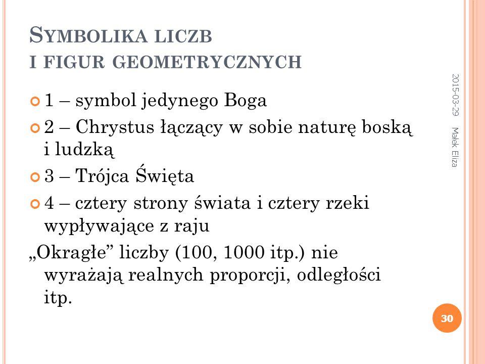 31 L ICZBOWE ZNACZENIE LITER 2015-03-29 Małek Eliza 31 A (аз) = 1 В (веди) = 2 Г (глаголь) = 3 Д (добро) = 4 itd..