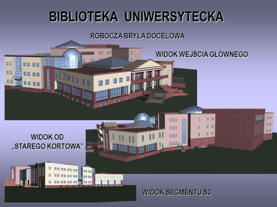 BIBLIOTEKA UNIWERSYTECKA BRYŁA Z PIERSZEJ FAZY PROJEKTOWEJ