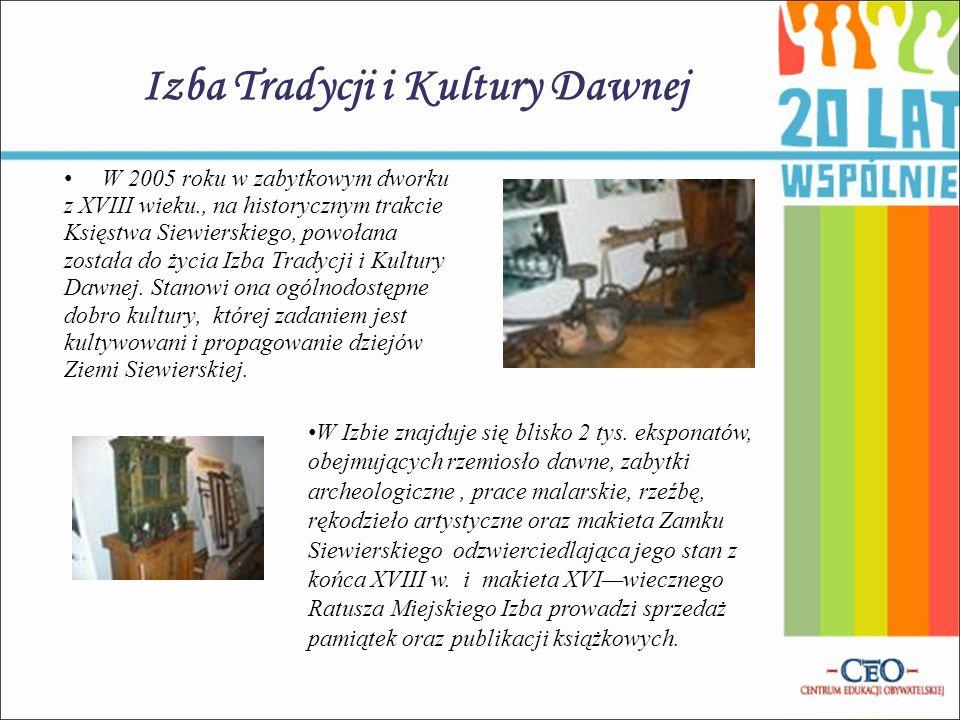 Izba Tradycji i Kultury Dawnej W 2005 roku w zabytkowym dworku z XVIII wieku., na historycznym trakcie Księstwa Siewierskiego, powołana została do życ