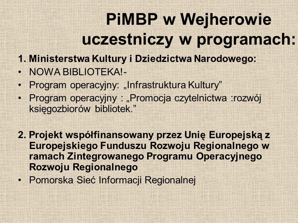 Stworzenie Pomorskiej Sieci Informacji Regionalnej ma na celu zachowanie i pielęgnowanie dziedzictwa kulturowego regionów województwa pomorskiego, upowszechnianie go, promowanie i wykorzystanie dla integracji społeczności lokalnej oraz edukacji regionalnej.