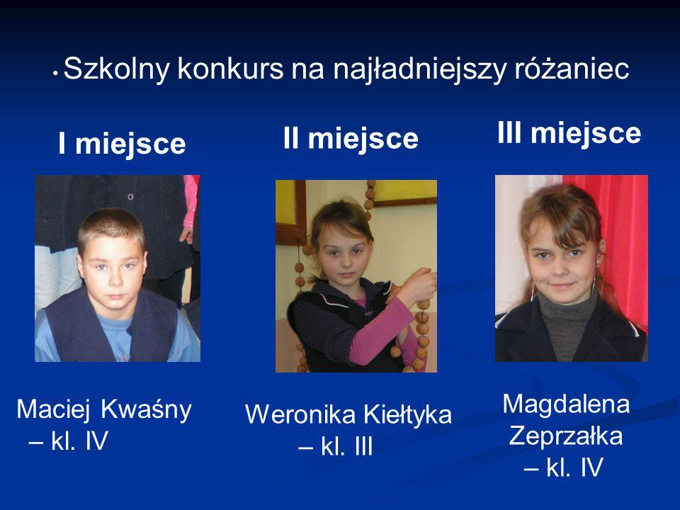Szkolny konkurs na najładniejszy różaniec Maciej Kwaśny – kl.