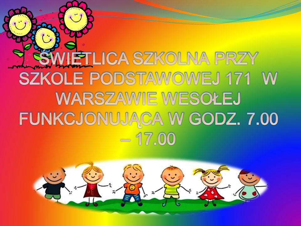 7.00 – 8.00 – Przyjmowanie dzieci do świetlicy 8.00 – 8.45 – Gry i zabawy, odrabianie lekcji 8.45 – 10.00 – Zajęcia tematyczne wg.