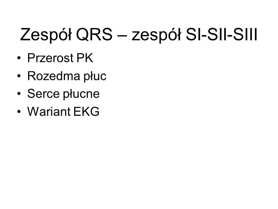 Przerost PK Rozedma płuc Serce płucne Wariant EKG