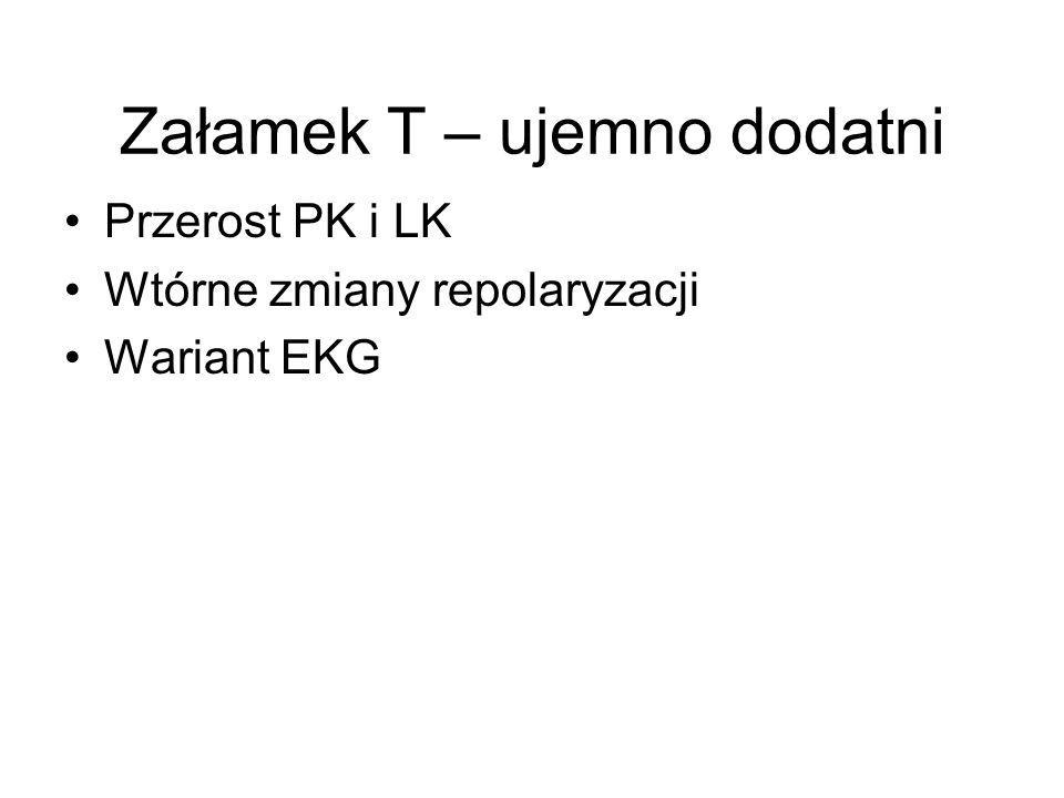 Przerost PK i LK Wtórne zmiany repolaryzacji Wariant EKG