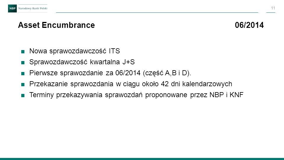 ■Nowa sprawozdawczość ITS ■Sprawozdawczość kwartalna J+S ■Pierwsze sprawozdanie za 06/2014 (część A,B i D). ■Przekazanie sprawozdania w ciągu około 42
