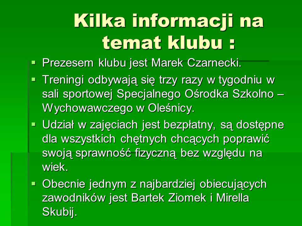 DZIAŁALNOŚĆ MIĘDZYKLUBOWA We wspólnych treningach w Zieleńcu uczestniczyli zawodnicy Jaskini Lwa z Ziębic i Orła Oleśnica.