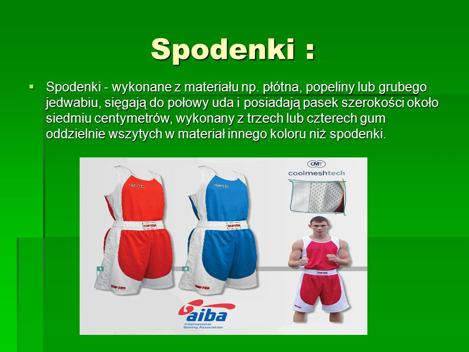 Spodenki : Spodenki :  Spodenki - wykonane z materiału np.