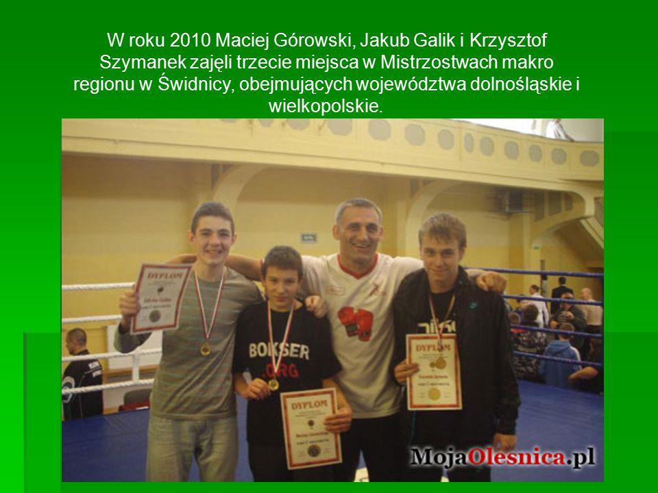 W roku 2010 Maciej Górowski, Jakub Galik i Krzysztof Szymanek zajęli trzecie miejsca w Mistrzostwach makro regionu w Świdnicy, obejmujących województwa dolnośląskie i wielkopolskie.