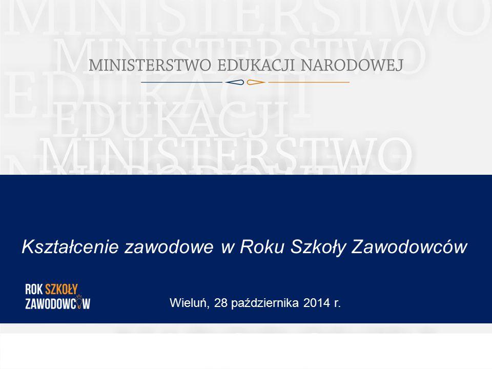 Kształcenie zawodowe w Roku Szkoły Zawodowców Wieluń, 28 października 2014 r.