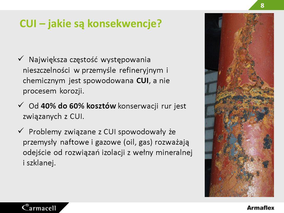 CUI – jakie są konsekwencje? Największa częstość występowania nieszczelności w przemyśle refineryjnym i chemicznym jest spowodowana CUI, a nie procese