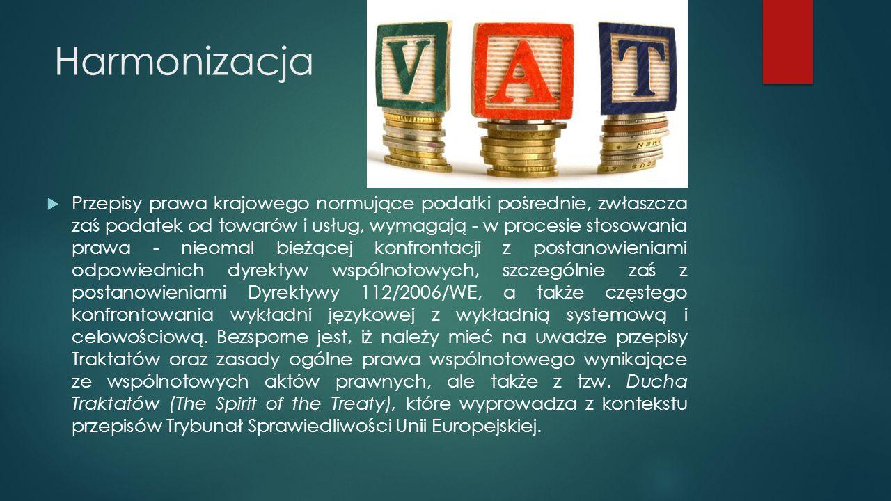 Zwolnienia przedmiotowe W podatku VAT zwolnienia mają charakter głównie przedmiotowy, co jest konsekwencją charakteru tej daniny.