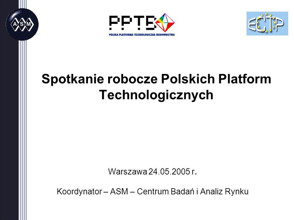 Spotkanie robocze Polskich Platform Technologicznych Warszawa 24.05.2005 r.