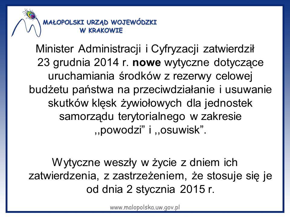 Minister Administracji i Cyfryzacji zatwierdził 23 grudnia 2014 r.