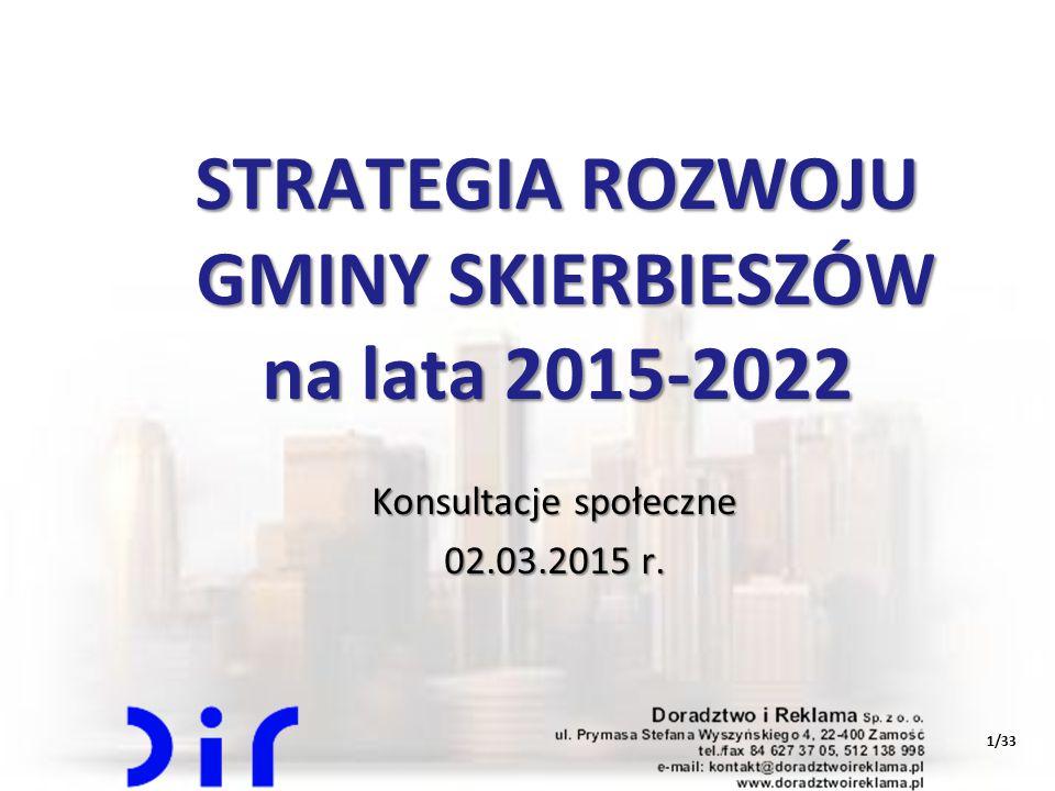 1/33 STRATEGIA ROZWOJU GMINY SKIERBIESZÓW na lata 2015-2022 Konsultacje społeczne 02.03.2015 r.