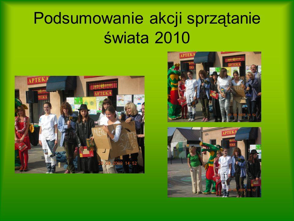 Podsumowanie akcji sprzątanie świata 2010
