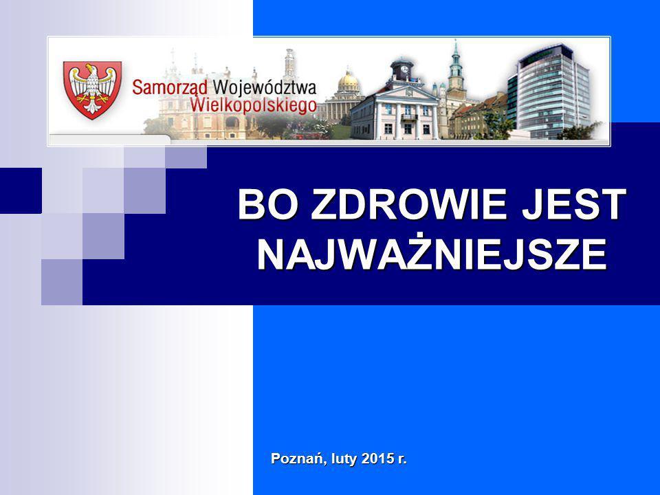 BO ZDROWIE JEST NAJWAŻNIEJSZE Poznań, luty 2015 r.