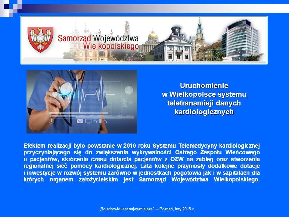Efektem realizacji było powstanie w 2010 roku Systemu Telemedycyny kardiologicznej przyczyniającego się do zwiększenia wykrywalności Ostrego Zespołu W